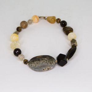 Signed SIGRID OLSEN Chunky Stone Necklace Dendrite